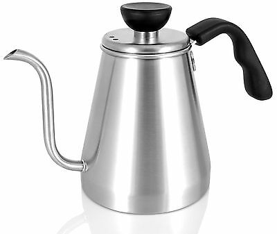 Ovalware Pour Over Coffee and Tea Kettle Precision Gooseneck 1L