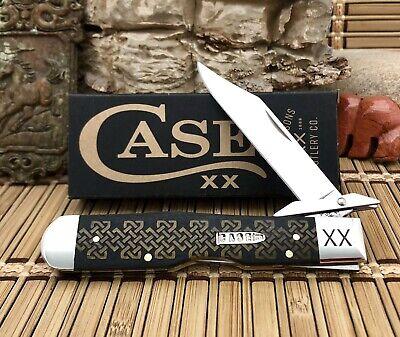 Case XX USA Beautiful 2021 Antique CELTIC KNOT Bone Bullet XX Cheetah Knife