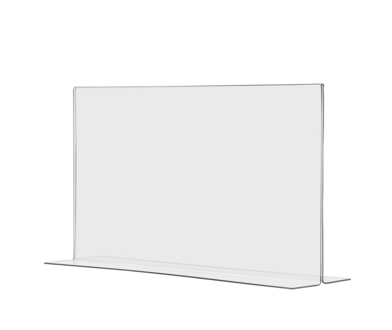 """8.5""""W x 5.5""""H Double sided Bottom Loading Table Sign Holder Lot of 12 Wholesale"""
