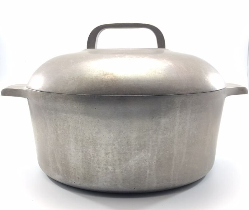 Wagner Ware Sidney 5 Qt Magnalite  Aluminum Dutch Oven Stock Pot With Lid 4248-P
