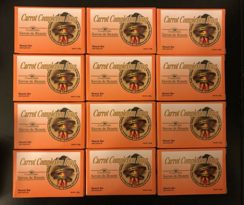 1 DOZEN Carrot Complexion Soap with Carrot Oil 12 BARS 125g Each  FREE SHIPPING