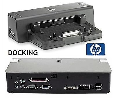 HP Advanced Docking Station Model Kq751aa Aba In Box With...