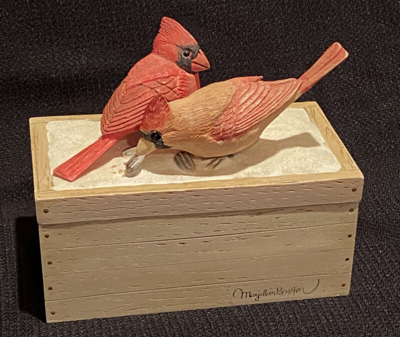 Hallmark Marjolein Bastin Cardinals On Treasure Box Hard to Find