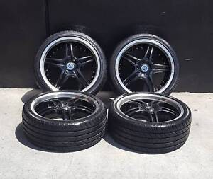 SECONDHAND 19 INCH WHEELS+TYRES TO SUIT HOLDEN COMMODORE VX VY VZ Preston Darebin Area Preview