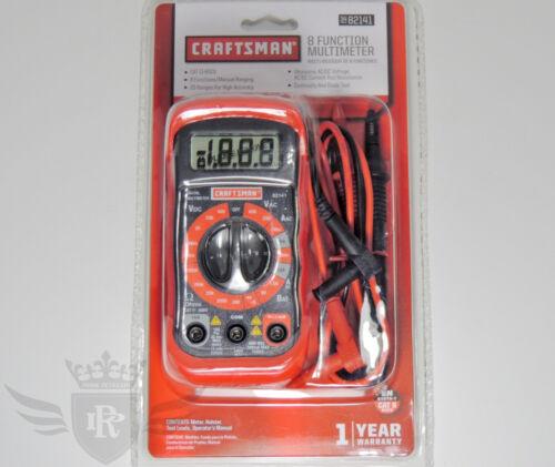 New Craftsman 8 Function Digital Multimeter with 20 Ranges - 34-82141