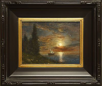 original oil painting landscape signed on canvas vintage antique style 3332 COLE