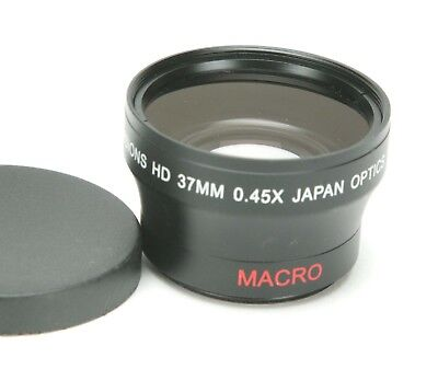 Digital Vision HD 0.45x & Macro Lens W/ 37mm Thread. Japan Optics. Clean Glass.