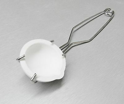 100 Gram Ceramic Crucible Melting Dish & Whip Tong Set Melt Gold Silver Copper..