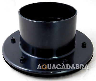 "SOLVENT WELD 4"" INCH FLANGED TANK LINER CONNECTOR KOI POND FILTER PIPE FLANGE"