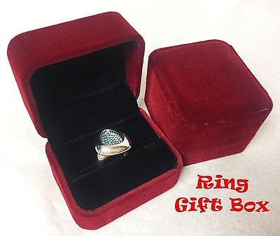 Velvet Jewelry Gift Box Ring Men Women Christmas Birthday Ev