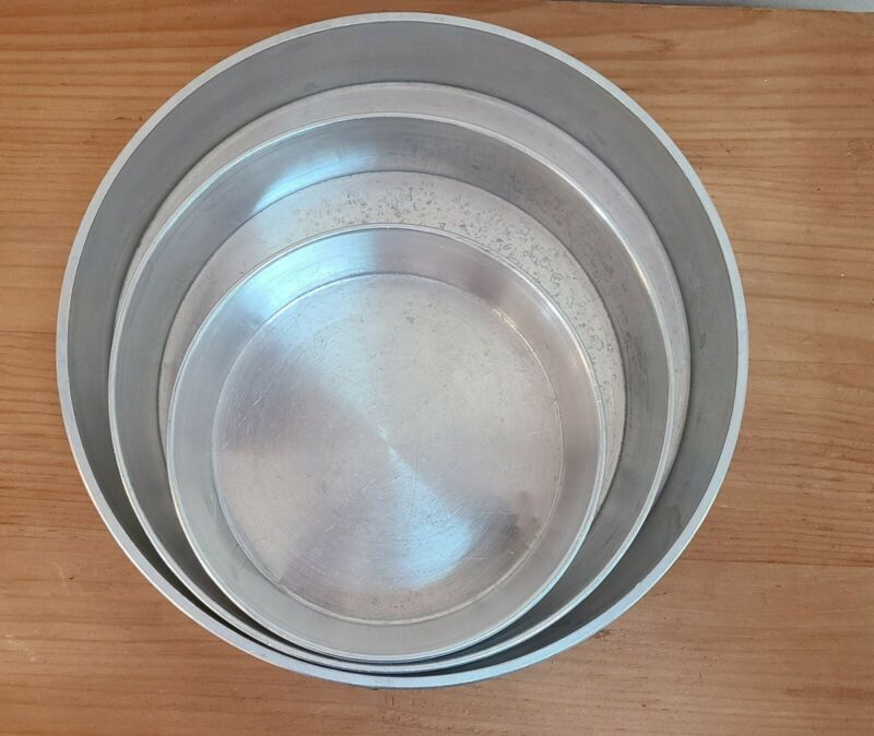 Vintage 3Tier Mirro Aluminum Stacking Pans made in USA