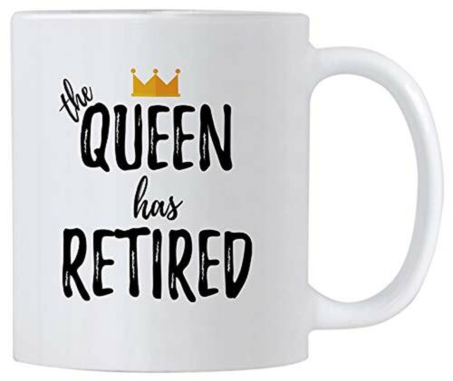 Funny Retirement Gift for Women. 11 oz Retired Queen Gifts C