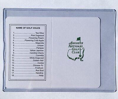 Augusta National Golf Club Course Scorecards UNSIGNED MASTERS Golf Card Club Golf Course