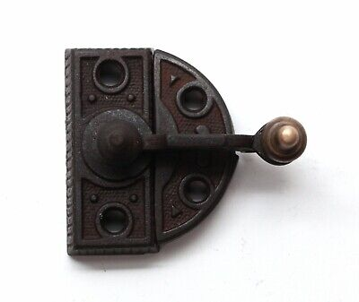 High Profile Cast Iron & Bronze Window Lock