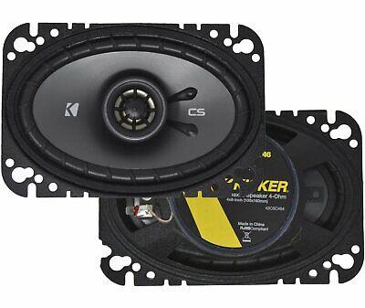 "Kicker CS Series 4x6"" 2-Way 150 Watts Car Speakers - Pair -"