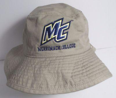 Merrimack College Mc Hat Cap Bucket Floppy Usa Embroidery Warriors S M New