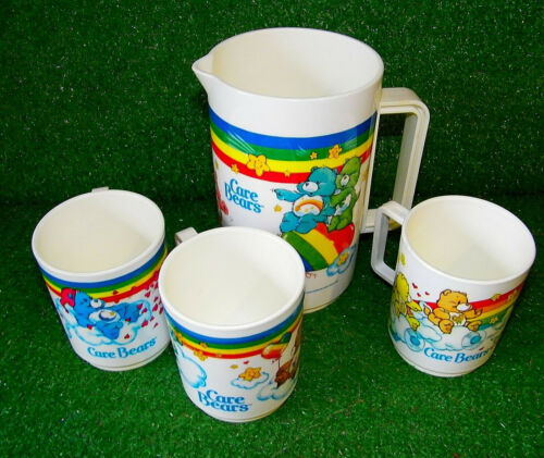 Vintage Care Bears Pitcher and Cup Set 1980s