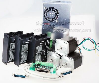 Us Free Ship3axis Nema 23 Stepper Motor 270oz-in 3adriver Dm542a Cnc Router