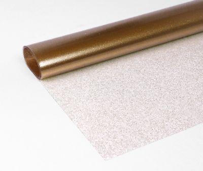 Transparente Folie Glitter Gold Metallic Tischdecke Tischschutz Größe wählbar