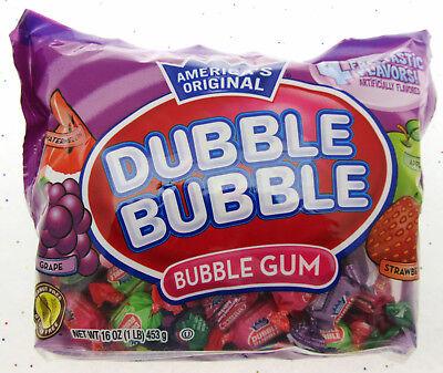 Dubble Bubble ~ 4 Flavor Fruit Mix 16oz Double Bubble Gum Chewing ~ 16oz bag