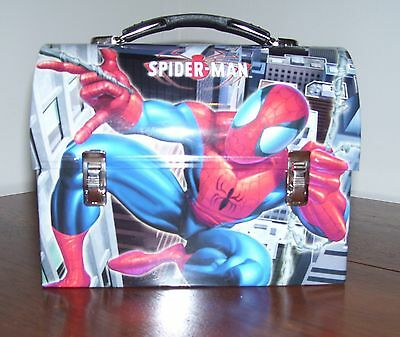 NEW Spiderman Spidey Metal Domed Lunchbox Lunch box web