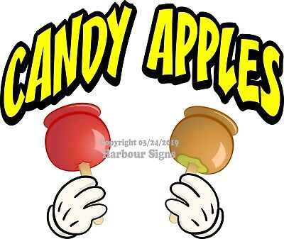 Candy Apples Decal Choose Your Size And Color Concession Food Truck Sticker M