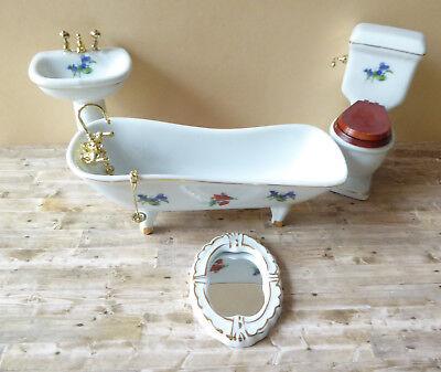 Miniatur 1:12 8 Badezimmerset  alles für das Bad großes Konvolut