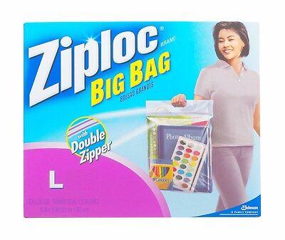"1 BiG BAG ZIPLOC L 3 GALLON Plastic 15"" x 15"" Large Storage clothes shoe ziplock"