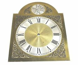 CLOCK DIAL - TEMPUS FUGIT CLOCK METAL DIAL - 13 TALL - VINTAGE - MX824