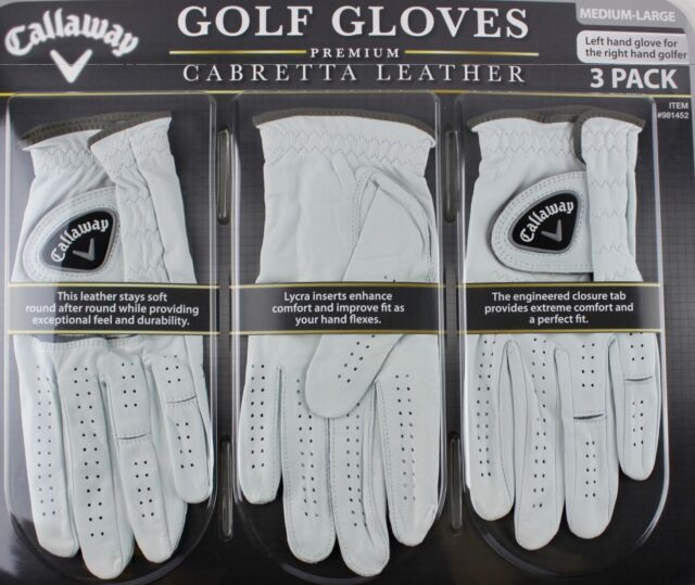 Callaway Premium Cabretta Leather Golf Gloves Left Hand 2pack Large Ebay