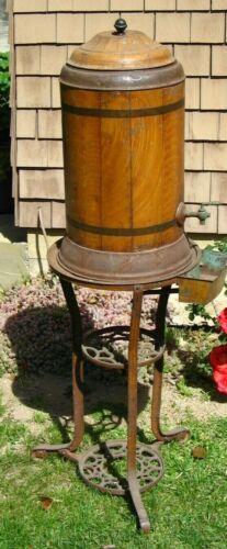 """54 1/2"""" Tall Antique Vtg Metal Water Dispenser Cooler Still  Spouted RARE!"""