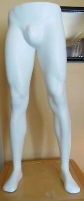 Mens White Plastic Full Length Mannequin Legs Without Base