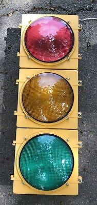 "- Retired Aluminum 12"" LEDS Traffic Signal / Red / Stop Light - NO Hoods / Visors"