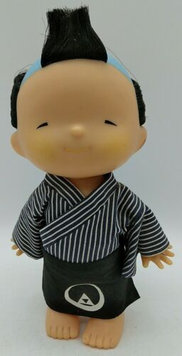 "Vintage 6"" Doll Japanese Asian Oriental BOY Wearing Kimono Apron Circle Pyramid"