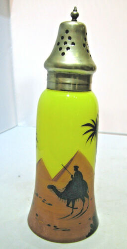 Vintage Shaker Bottle With Egypt Scene with E.N.P.S Lid