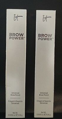 Lot  2 It Cosmetics Brow Power Universal Eyebrow Pencil  0056 Oz Universal Taupe