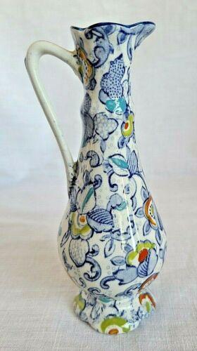 Vintage pitcher Old Foley James Kent Staffordshire England Cathay blue floral