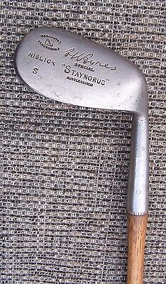 533 - A H AYRES HICKORY SHAFTED 'STAYNORUS' NIBLICK 'MALTESE CROSS' CLEEK