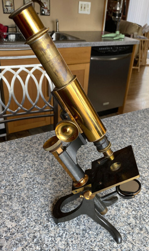 Microscope by W Johnson and sons London