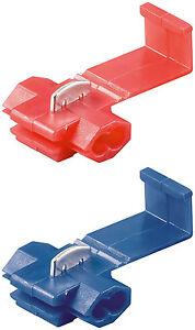 20 Schnellverbinder, rot / blau, Abzweigverbinder, Stromdiebe