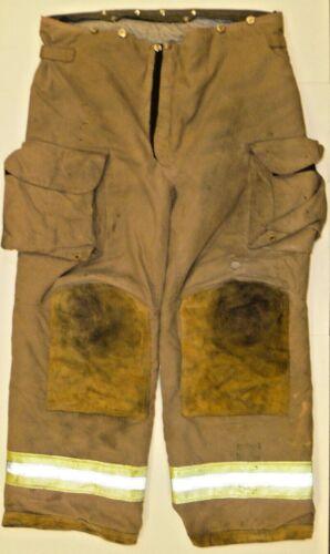 42x30 42L Janesville Lion Brown Firefighter Turnout Bunker Pants P829