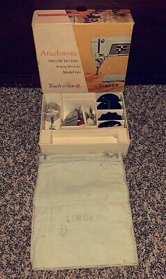Vintage Singer Attachments Deluxe Zig-Zag Sewing Machine Model 600