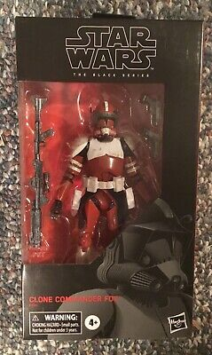 "Star Wars Black Series 6"" Inch Clone Commander Fox Exclusive HTF NEW in Hand"