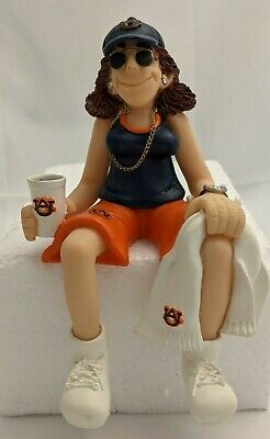 Auburn University College Shelf Sitters Family of Fans Collegiate Figurine Woman