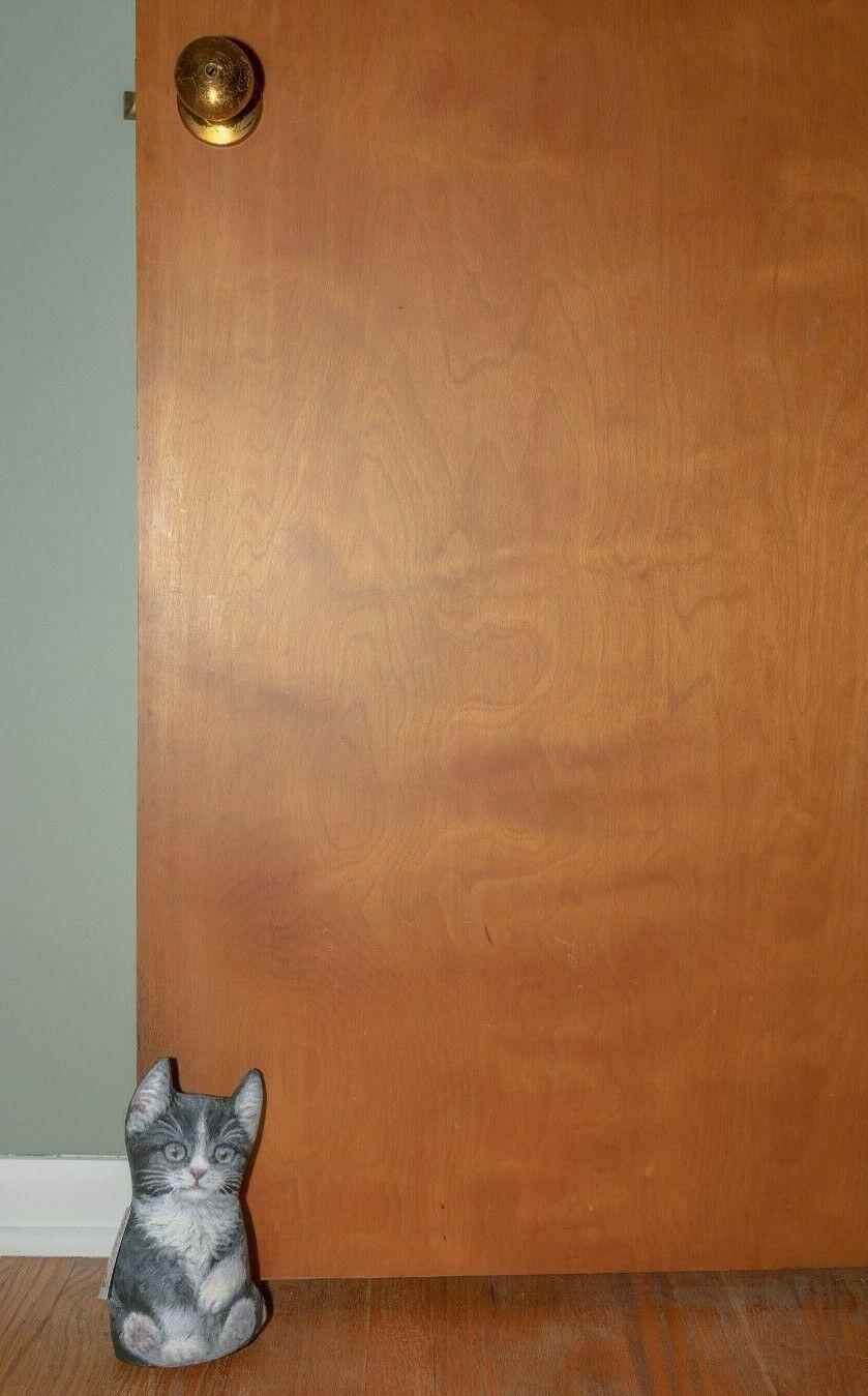 Kitten Cat Door Stopper Soft Sculpture 9″ inches tall For cat lovers Brand NEW Doorstops