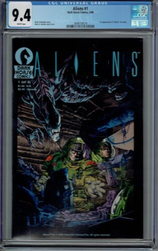 CGC 9.4 ALIENS #1 1ST APPEARANCE OF ALIENS IN COMICS 1988 DARK HORSE WHITE PAGES