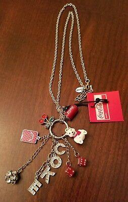 Las Vegas Coca-Cola Charm Necklace w/ COKE, Dice, Playing Card, Polar Bear Charm