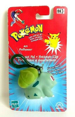 Pokemon Bulbasaur #01 Backpack Pal Pokemon Clip Hasbro 1998/2000 - Rare