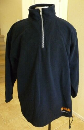 Def Leppard Euphoria 2009 Tour REAL Crew Issued Blue Zip Fleece Pullover Jacket