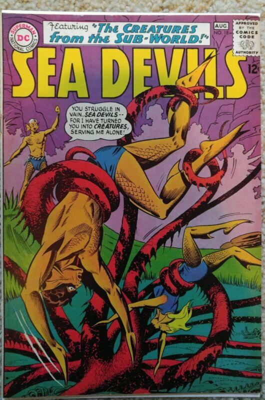 SEA DEVILS #18 VF 8.0 DC 8/1964